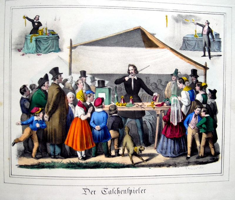 TUKA Karl Thienemann Der Jahrmarkt 1843 Der Taschenspieler